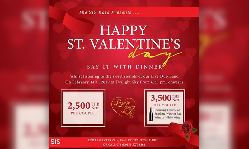 Happy St.Valentine,s Day – Say it with dinner at Twilight Sky