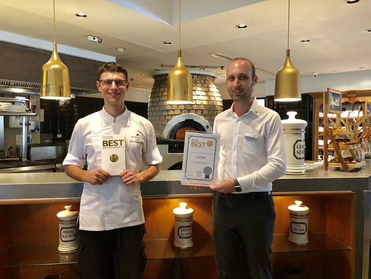 JW Marriott Phuket Resort & Spa's Cucina Italian Kitchen scoops up Thailand Tatler Best Restaurants 2019 Award
