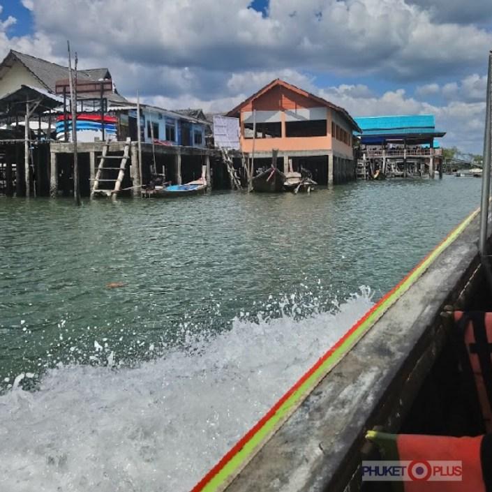 прогулка на деревянной лодке к деревне морских цыган
