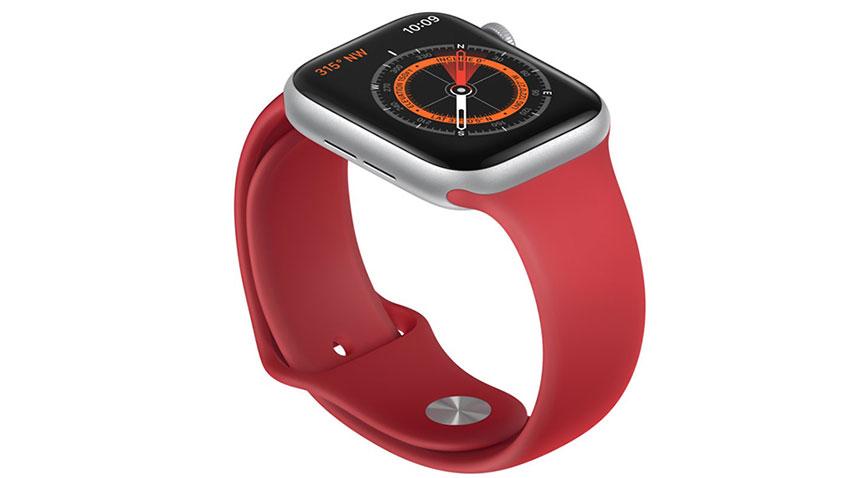 Apple Watch Series 5 GPS, 40mm viền nhôm bạc dây cao su trắng MWV62VN/A – Chính hãng FPT