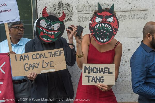 Protesters Call To DE-LIST Global Coal Management PLC.From London Stock Exchange