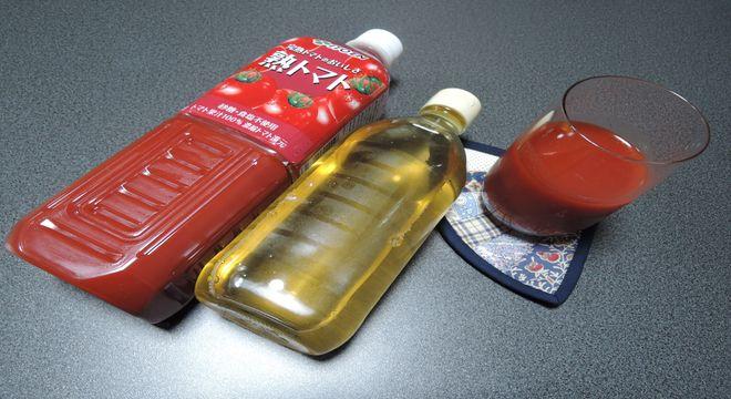 リンゴ酢のトマトジュース割り
