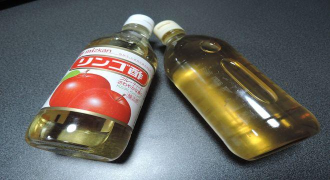 市販のリンゴ酢と手作りリンゴ酢