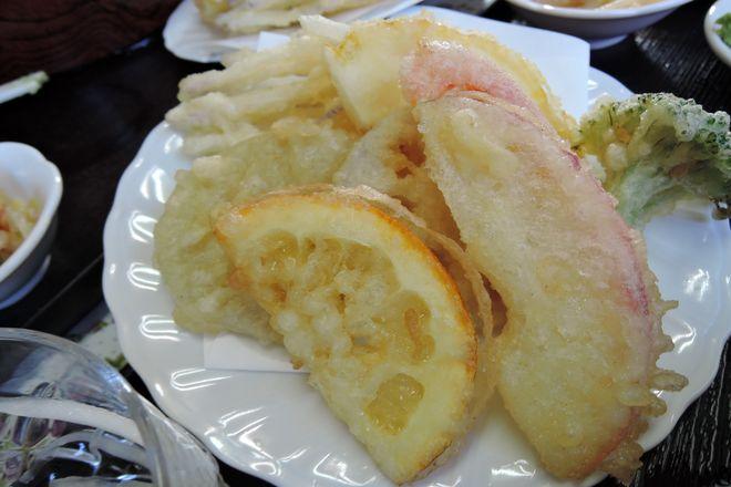 リンゴの天ぷら|天ぷらの盛り合わせ