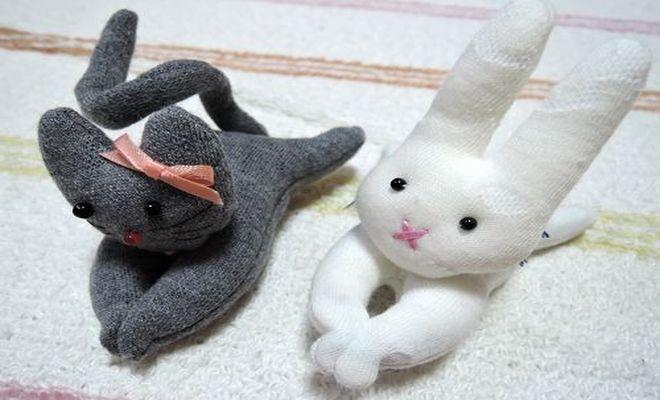 猫クリップとうさぎウサギクリップ