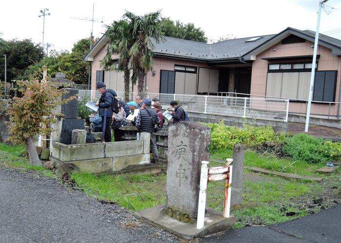 森西川自治会館前墓地