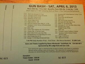Gun bash tickets, Thursdays from 7-9!
