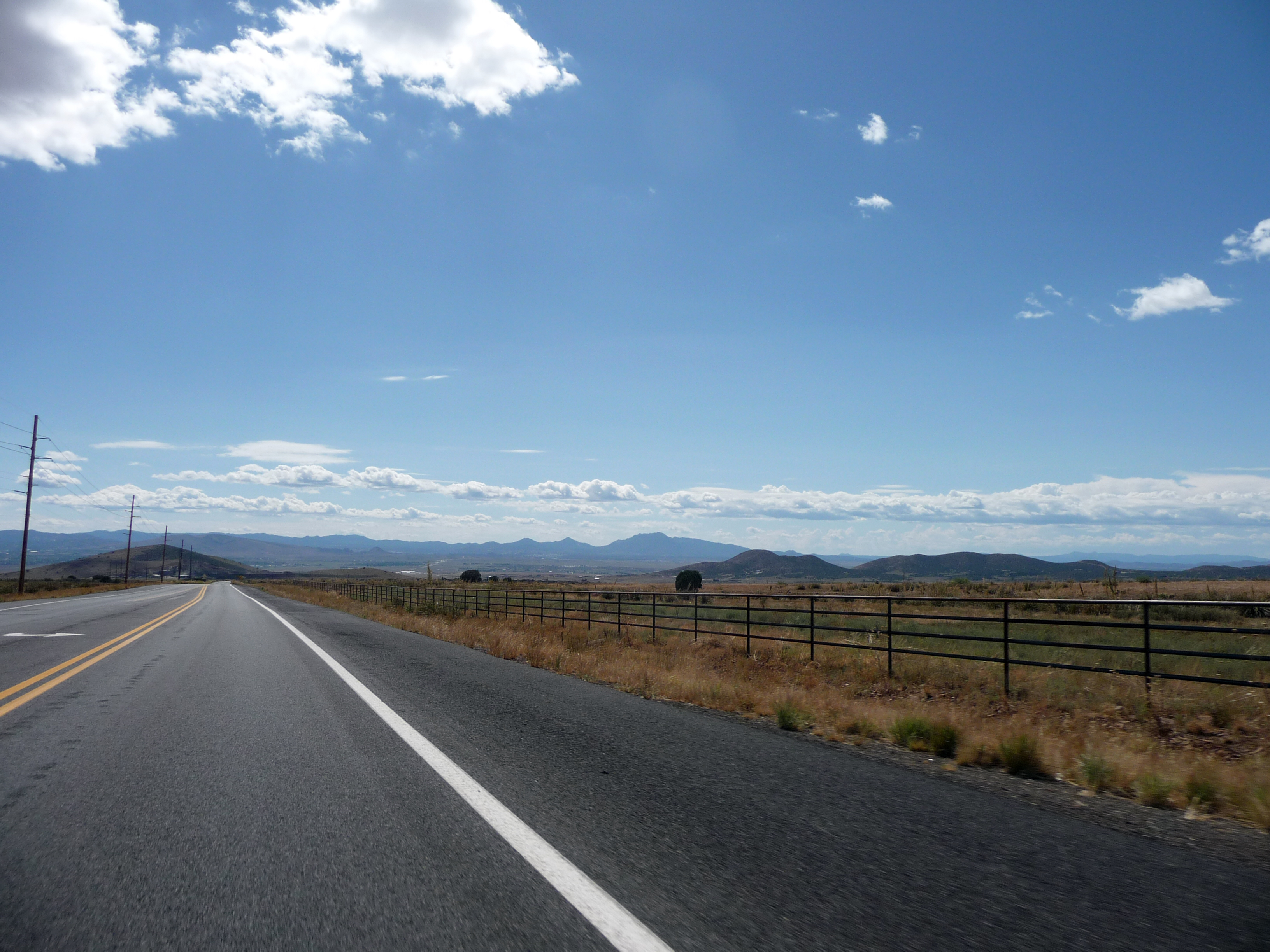 The open road heading out of town