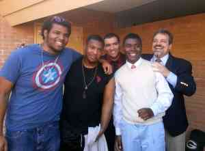 Rico, Gerald, Anthony, Marvell, and Jeremy Celebrate just after Gerald is Baptized into Christ! (Rom 6:1-4)