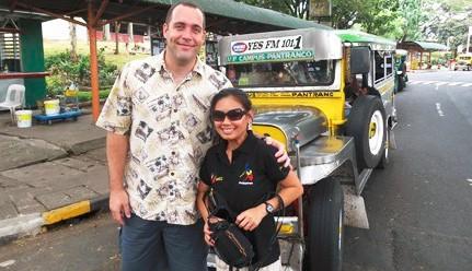KYLE & JOAN BARTHOLOMEW ON THE UNIVERSITY OF THE PHILIPPINES CAMPUS IN METRO MANILA!
