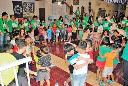 MERCY Ambassadors entertained the children with daring martial arts, incredible singing and many fun games!