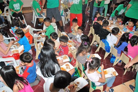 Food for all the children and all the MERCY Ambassadors was provided by the sacrifice of two awesome disciples - Hendry and Annaliza!