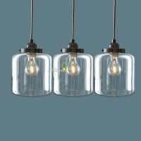 Nordic Clear Glass Jar Pendant Lighting 8861 : Free Ship ...