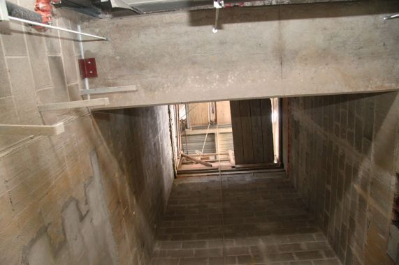 Soon, an elevator will be put in to transport people through six levels, which consist of the sub-basement, basement, and four floors.