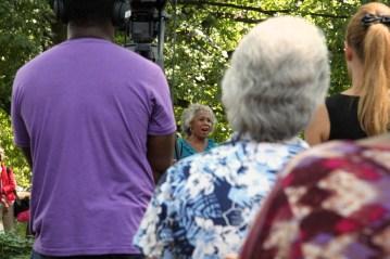 Osceola Davis sings the national anthem at 9/11 memorial service.