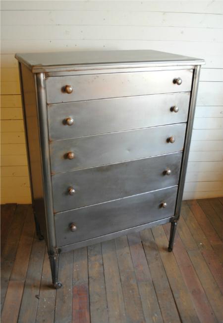 Vintage Steel Highboy Dresser  Phylum Furniture