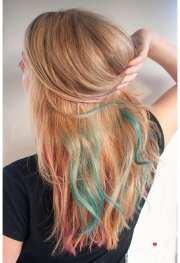 rainbow color hair