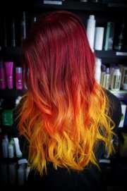 rainbow hair color ideas with christian