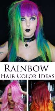 rainbow hair color ideas with christian