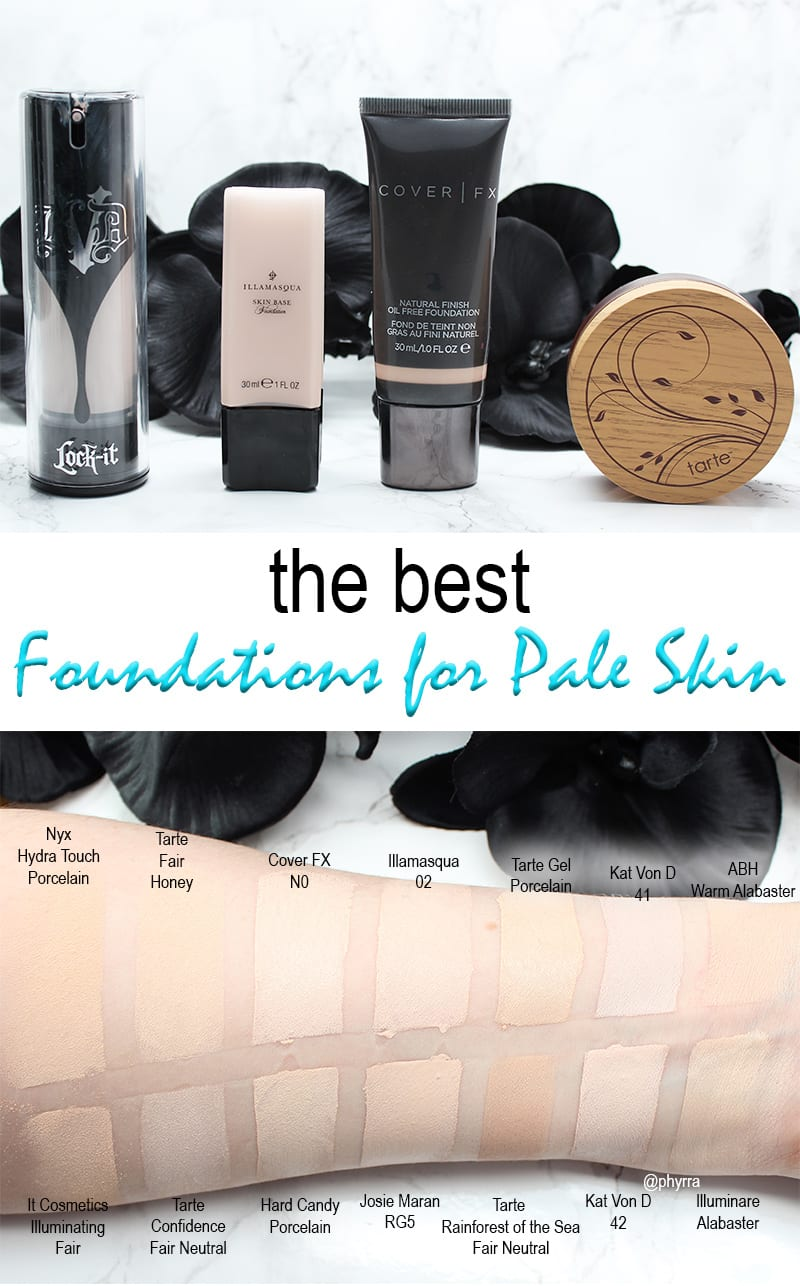 best foundations for pale