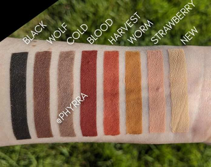 Black Moon Cosmetics Orb of Light Full Moon Palette Swatches