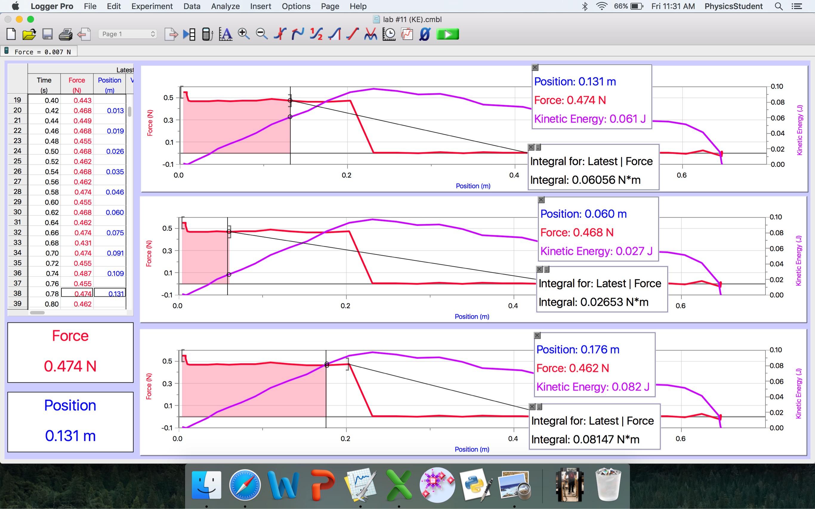 Lab 11 Work Kinetic Energy Theorem Sarah Ron S 4a Lab Blog