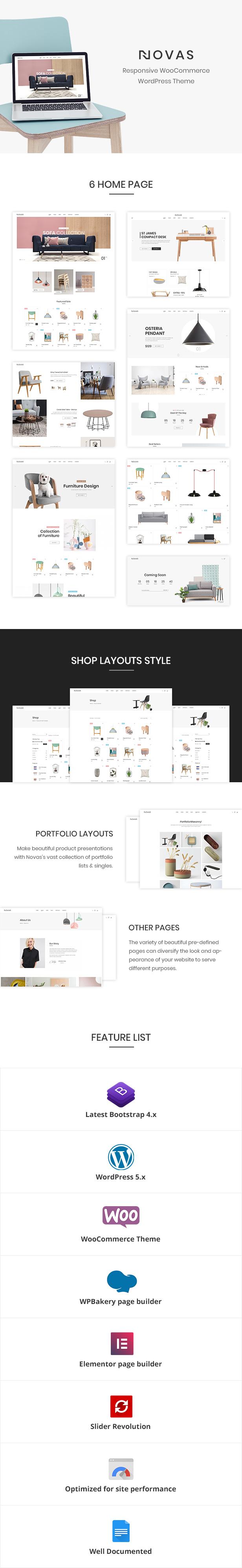 Les Novas | Magasin de meubles et boutique à la main WordPress Theme-1