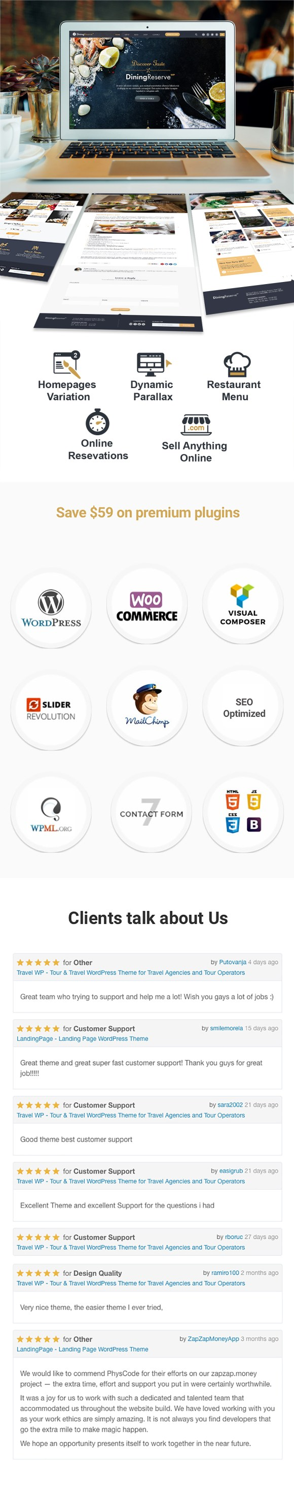 Restaurant WordPress Theme - 1