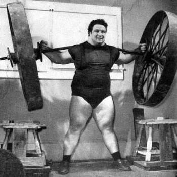 Paul Anderson squatting