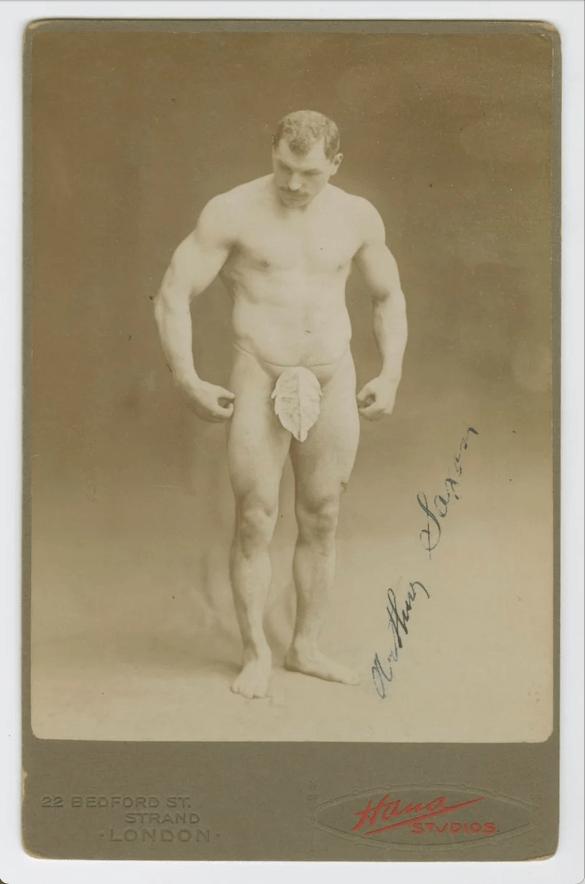 Cabinet Card Image of Arthur Saxon