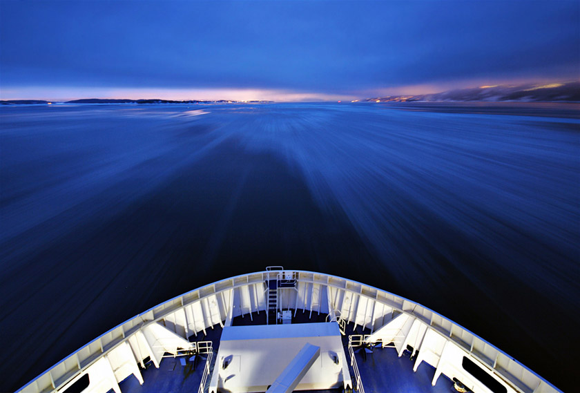 Morgens im Fjord