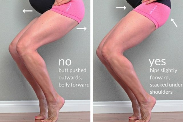 One simple move for insanely toned legs - step #3: hips stacked under shoulders