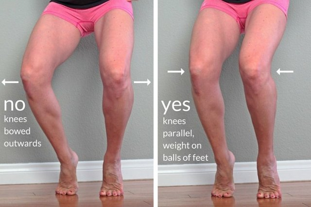 One move for insanely toned legs - step #2: feet and knees parallel