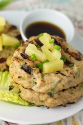 Lean, bursting with flavor, and SO easy - these Whole30 Hawaiian chicken burgers are only 5 simple ingredients!