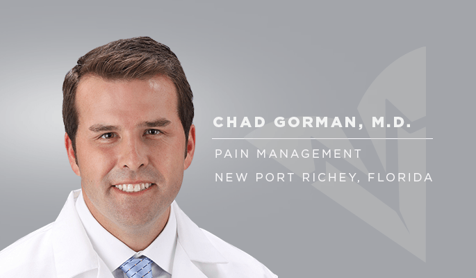 Dr Chad Gorman PPOA New Port Richey pain relief