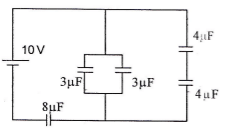 Series and parallel capacitors circuits