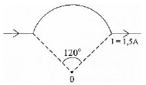 Magnetic field at the center of an arc of current