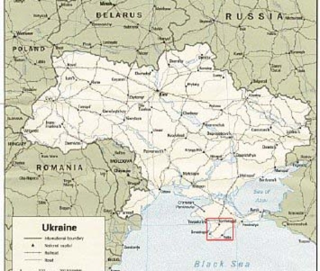 The Crimean Astrophysical Observatory Is Located On The Crimean Peninsula In The Country Of Ukraine Large Map At A Longitude Of 341e And A Latitude Of