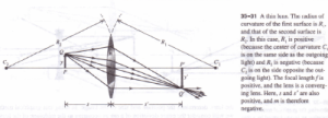 THE LENSMAKER'S EQUATION Physics Homework Help, Physics