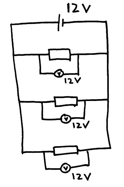 pd in parallel circuits