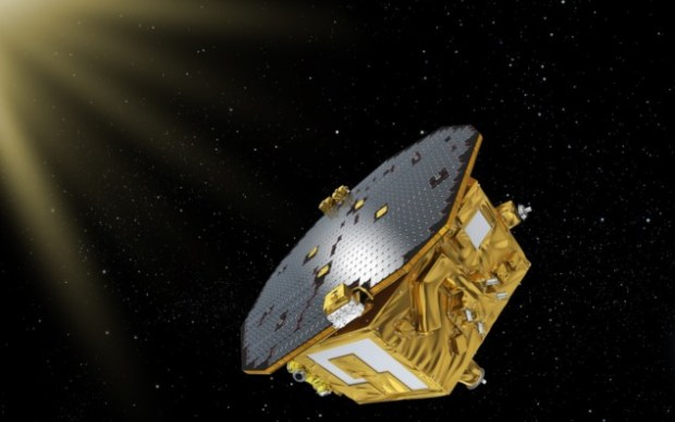 Artist's impression of LISA Pathfinder in space