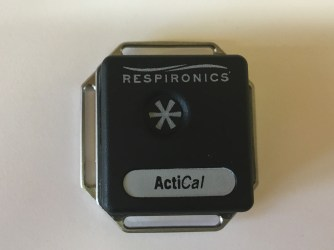 The Actical is a pedometer that allows objective measuring of patient activity levels. Photo by Antonia Wadley