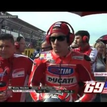 physiotherapist Alfredo Dente and Nicky Hayden, Ducati