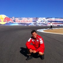 physiotherapist Alfredo Dente, Laguna Seca, California