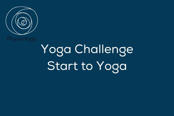 Yoga challenge – Start to Yoga