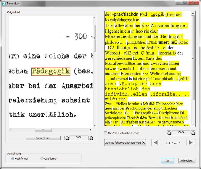 ReadIris: Beschädigten Ormig-Text erkennen