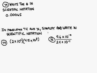 Multiply numbers in Scientific Notation Help Video in High