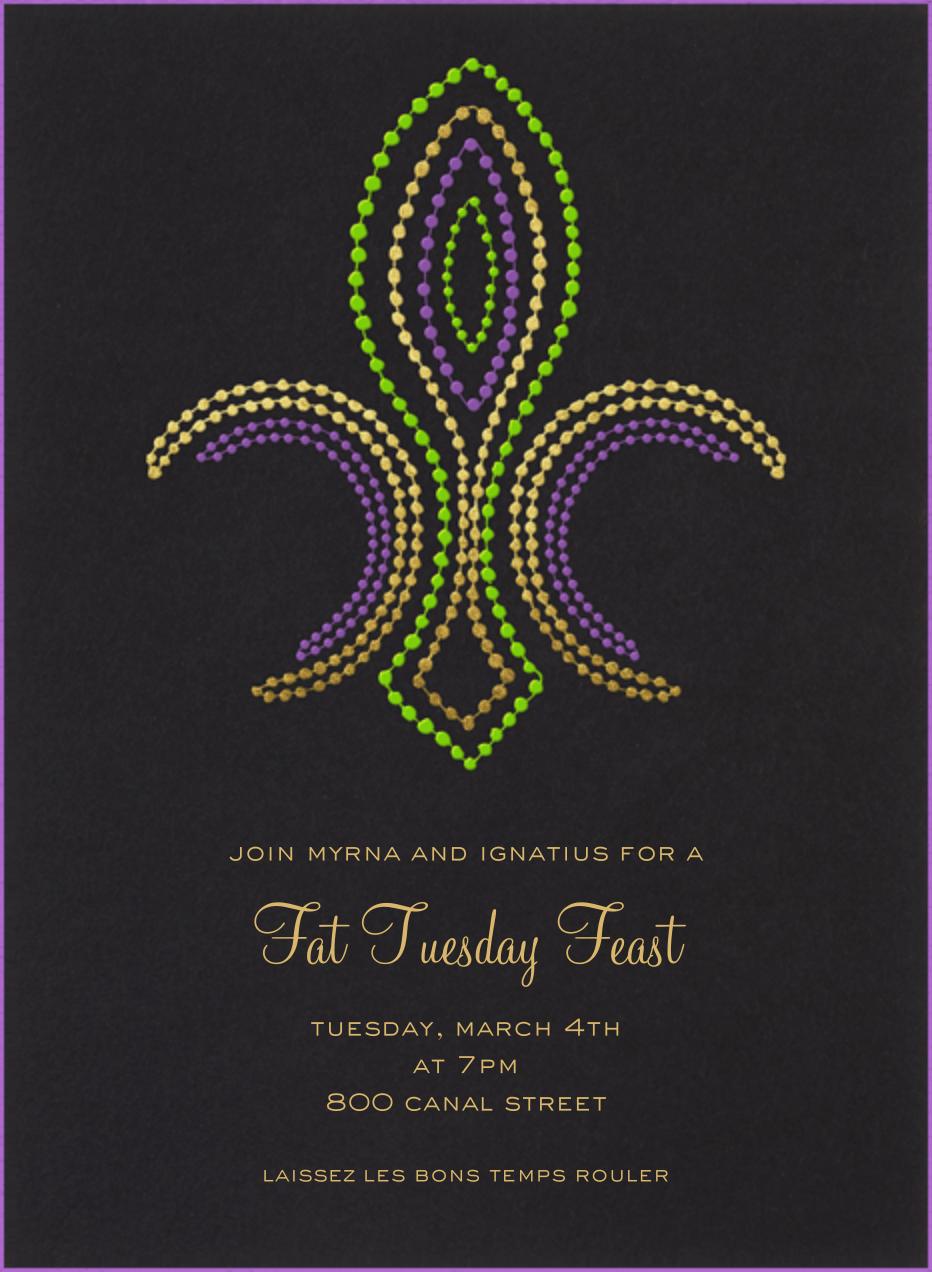 mardi gras invitations send online