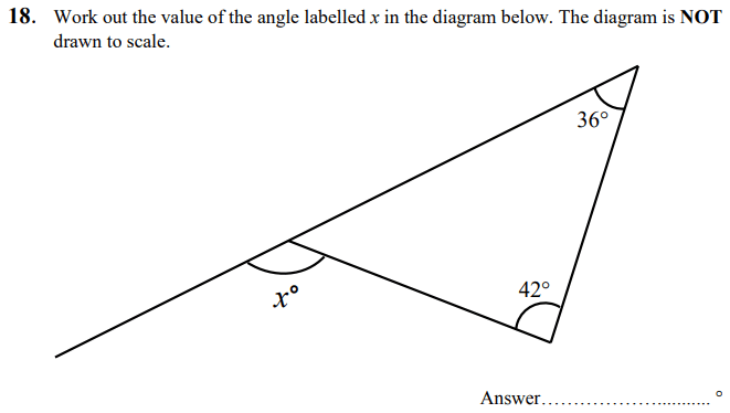 Angles Questions Collected From 11+ papers