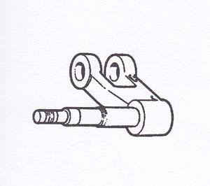 Braccio sospensione anteriore forcella per Vespa P125X